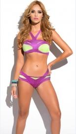 Purple & Green Bikini Set