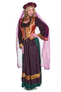 Satiny Wrinkled Dark Violet Pink Orange Golden Hues Longsleeve Long Gown Fabric Style