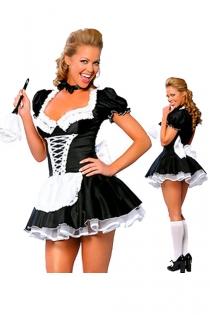 Brilliant Black Skimpy Dress White Gorgeously Ruffled Top Crisscrossed Center Body Sequence Sheer White Skirt Underlayer