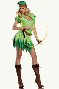 Glossy Light Green Overlayer With Dark Green Underlayer Lady Peter Pan Inspired Look
