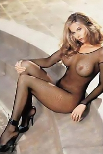 Fishnet Black Bodystocking With Scoop Neck and Long Sleeves