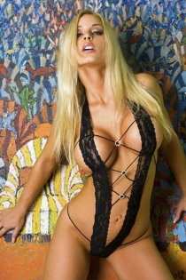 Black Floral Lace Teddy With Extreme-V Halter Neck and Criss Cross Toggle Bodice