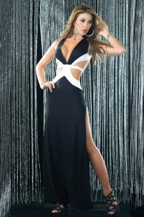 Flirtatious Yet Fashionable Ankle Length Cocktail Gown With Back O Ring Design