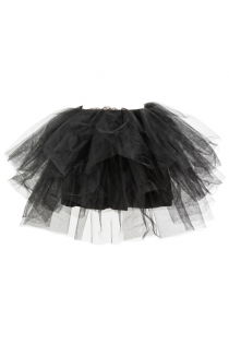 Cute Black Mesh Mini Skirt for Bustier,Corset, Costume