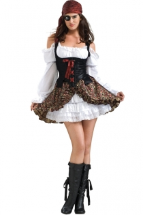 Sexy Pirate Queen Costume with Matching Skirt