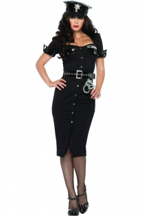 Sexy Police Uniform Costume with Matching Hat