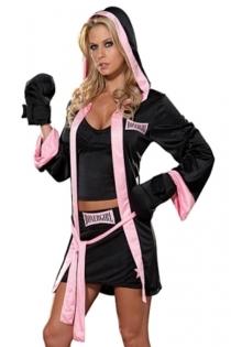 Sexy Boxer Female Costume