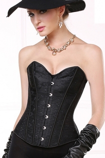 Elagant Lace Boned Corset with Lace-up Back, Sweetheart Neckline