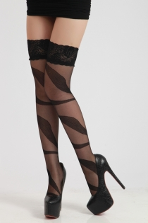 Carnatio Strappy Illusion Stockings