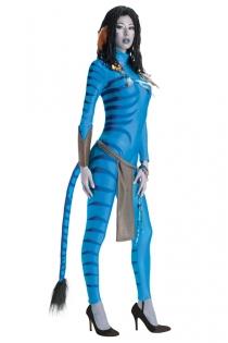 Adventurous Avatar Style Costume Bodysuit With Tail