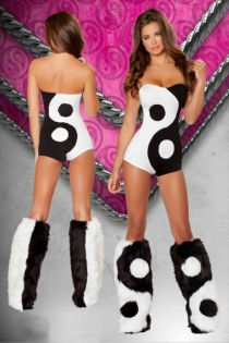 Ultra Attractive Yin&Yang Sexy Sweetheart Neckline Costume