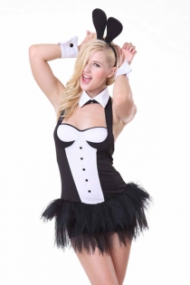 Cute Halloween Bunny Costume with Sweet Neck Piece and Wrist, Ears