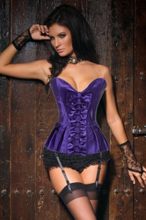 Wholesale Corsets Sexy Purple Satin Corset