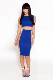 Seductive Figure-hugging Sleeveless Dress Set