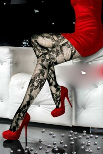 Pretty  See-Through Pantyhose with Floral Design