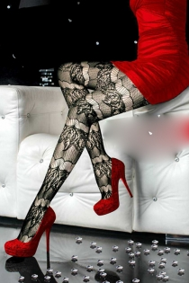 Dazzlingly Sexy  Black Lace Pantyhose