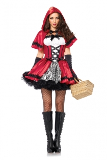 Little Red Riding Hood Costume Dress with Cape