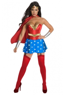 Wonder Woman Halloween Costume with Matching Skirt and Cape