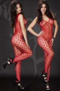 Sexy Red Big-net Body Stockings