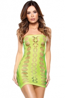 Sexy Green Mini Dress With Revealing Cut-out Circles
