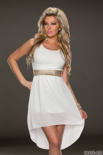 Wonderful Ethereal Chiffon Sleeveless White Colored High-low Dress