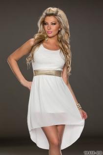 Wonderful Ethereal Chiffon Sleeveless White Colored High-low Dress
