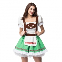 Oktoberfest Green Beer Girl Uniforms Game Apparel Plus Size Maid Costumes