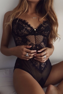 Unforgettable Night Sheer Black Eyelash Lace Teddy