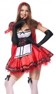 Sexy Costumes Women Cosplay Little Red Riding Hood Fancy Dress Halloween Party Carnival Costume