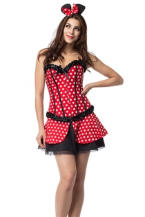 Sweet Red & White Dot Mickey Costume Set