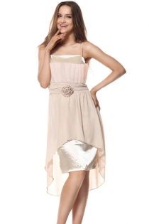 Sweet Light Pink Fancy Prom Dress