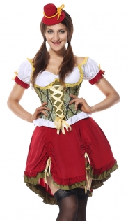 Women Oktoberfest Maid Costume Halloween Beer Girl Costumes