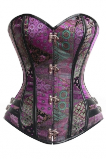 Clearance!!!Women's Steampunk Gothic Brocade Steel Boned Hourglass Bustiers Corset