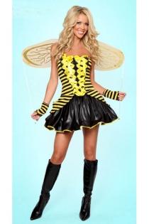 Sexy Buzzing Bee Costume,11008