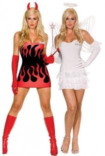 Sexy Angel&Devil costume,9514
