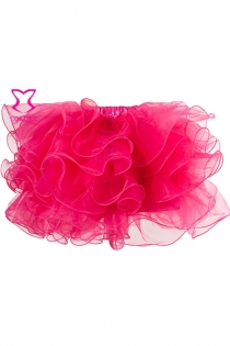 Gothic Layers Ruffles Rose Pink Organza Net Sexy Adult Tutu Skirt