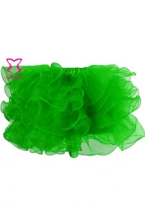 Gothic Layers Ruffles Green Organza Net Sexy Adult Tutu Skirt