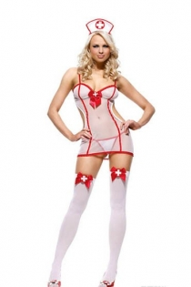 Sexy Nurse Costume underwear Without Stocking,9320