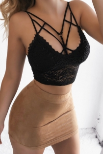 Sexy vest lace shaping underwear triangle cup with small bra gathered bra top