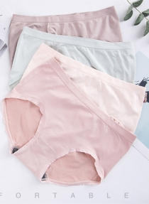 4 pcs/BOX 1.0 Graphene antibacterial underwear women seamless cotton file triangle panties