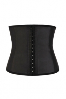 Black Latex Waist Trainer Cincher 9PCS Steel Boned Women Body Shaper Underbust Corset