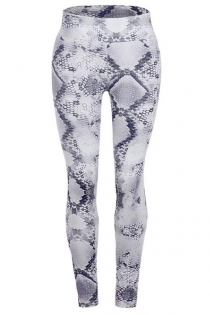 Gray slimming snake print yoga pants