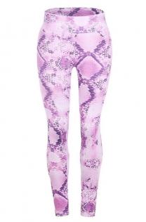 Purple slimming snake print yoga pants