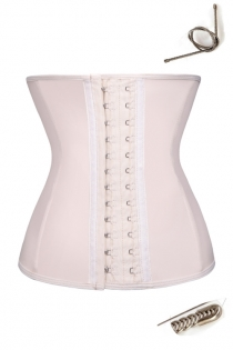 Beige Latex Waist Trainer Cincher 9PCS Steel Boned Women Body Shaper Underbust Corset