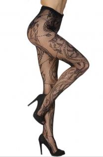 Sexy jacquard fishnet stockings