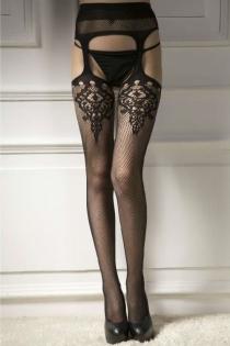 Fishnet Black Thigh-High Stockings, 18154