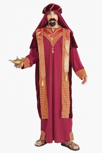 Aladdin Inspired Stylish Look Long Gown Carnation Pink With Lucrative Glossy Red Gold Stripes Sequence