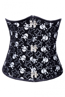 Playfully Lovable Rock Style Crisscrossed Tie and Untie Ribbony Back Sequence Corset