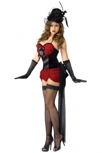 Tight Body Fit Soft Black Satin Cottony Spaghetti Straps With Blusing Soft Red Cup and Mini Skirt Style