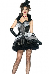 Spicy Hot Dark Raven Pleasantly Ruffled Smooth Fabric With Gorgeous Black Grey White Fusion